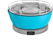 Feuerdesign 600846 Barbecue Portatile a Carbone senza Fumo BBQ Ø 33 cm Azzurro Veusvio
