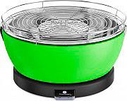 Feuerdesign FD-2007741-VEVE Barbecue Portatile da Tavolo a Carbonella ø 33 cm Verde Vesuvio