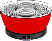 Feuerdesign VESUVIO Barbecue Portatile da Tavolo a Carbonella ø 33 cm Rosso