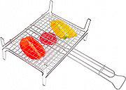 Filtex 265 Graticola Barbecue doppia con piedi in filo di ferro cromato 35x40 cm