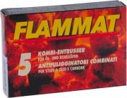 Flammat ENT-RU-014147 Pulitore Spazzacamino per Stufe a Legna e Kerosene 5 pezzi
