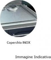 Focus CLF 60 Coperchio Inox per cucina a legna Focus 60 cm scarico fumi sinistra