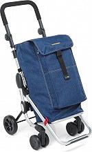Foppapedretti 9702001100 Carrello Spesa 48x40xh110 cm Alluminio Blue Jeans