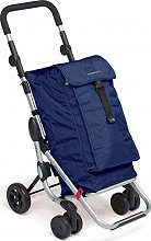 Foppapedretti GO-UP Camel Carrello portaspesa innovativo 38 lt  Navy