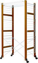 Foppapedretti Stendibiancheria verticale pieghevole legno Noce URSUS 9900421506