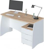 Fores OF4625A Scrivania 3 cassetti legno h74x136x67 cm Rovere  Bianco  Estil