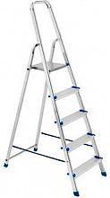Framar Scala Alluminio 5 gradini a Libretto Altezza cm 105 - Piuma 5