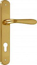 Frosio Bortolo A115L01 Maniglia Porta con Placca 40 x 245 mm finitura Oro Lucido  Serie Goccia