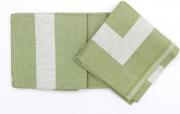 GALLUCCIO FF0724 Tovaglioli in Cotone Confezione da 12 con Fascia in Raso Verde