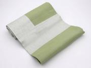 GALLUCCIO FF0725 Tovaglia 4 Posti in Cotone con Fascia di Raso colore Verde