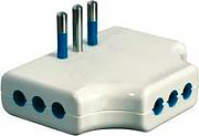 GARANTI Adattatore triplo piatto 3 prese 2P+T 10A P11 - 87250