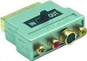 G&BL Adattatore SCART M to RCA Placcatura contatti in Oro SC838