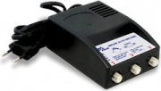 GBS Elettronica 41163 Amplificatore segnale antenna TV 3 porte Nero
