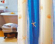 GEDY 100 - 120x200STELLE MARINE Tenda doccia vasca 120x200 Shower Curtain Impermeabile Moderna BeigeBlu100