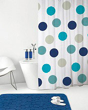 GEDY 118 - 240x200POIS Tenda doccia vasca 240x200 cm Shower Curtain Impermeabile Moderna 118 Pois