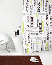 GEDY 120 - 120x200CITY Tenda doccia vasca 120x200 cm Shower Curtain Impermeabile Moderna 120 City