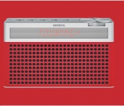 GENEVA TOURINGS+ RED Radio Stereo Portatile DAB+ Bluetooth Rosso TOURINGS+
