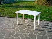 BICA 54 WHITE Tavolo da Giardino Resina Rettangolare 120X70 Bianco 54 Marshall