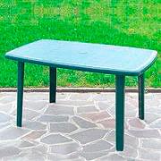 BICA Tavolo da Giardino Resina Rettangolare 137X85 Verde 56 Cayman