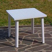 Giardini del Re 59 Tavolo da Giardino in Resina Antiurto Tavolino Quadrato 80X80