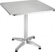 Giardini del Re CLUB Tavolo da Giardino Alluminio  Acciaio Tavolino 70x70h