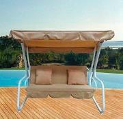 Giardini del Re Dondolo Giardino 3 Posti Acciaio + cuscini 200x118x164h Comfort