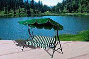 Giardini del Re DONDOLO 3 POSTI VERDE Dondolo Giardino 3 Posti da Esterno cm 170x110x153h colore Verde