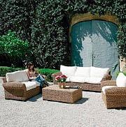 Giardini del Re Divano Luna 3 Posti Divano Esterno Giardino 3 Posti Giardino 262x93x75h Ecru Luna