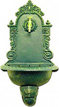 Giardini del Re Fontana Giardino Ghisa Esterno Muro Parete 43x24x60h cm Verde