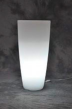 Giardini del Re Vaso Resina Luminoso cm 33X70H bianco bianca HOME LIGHT TONDO
