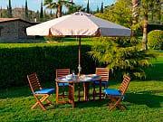Giardini del Re Ombrellone Giardino 2x3 mt in Legno con Telo - Island 200X300-6-38