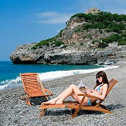 Giardini del Re Lettino Mare Prendisole Spiaggia Giardino Legno 165x57x90 STEAMER