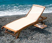 Giardini del Re Lettino Mare Prendisole Spiaggia Giardino Legno 197x68x33 TEXTILE