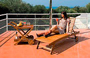 Giardini del Re LOUNGER Lettino Prendisole Mare Spiaggia Giardino 196x73x33