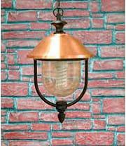 Giardini del Re Lanterna Catena Copper Lanterna Esterno Giardino Catena cm45 Serie Copper