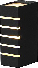 GIARDINI DEL RE Plafoniera Esterno Lampada Giardino Parete Alluminio Nero 413