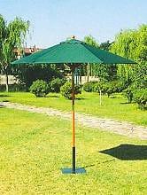 Ombrellone Giardino Offerte Roma.Ombrellone Da Giardino Diametro 2 5 Metri In Legno Con Telo Verde 250 6 38