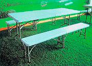 Giardini del Re Set Birreria Tavolo + 2 Panche Esterno Giardino cm 183X76X74H