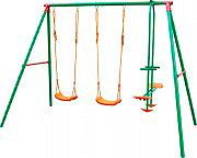 Giardini del Re SGN-01 Altalena Bambini Giardino 3 Tiri Acciaio Verniciato