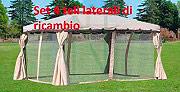 Giardini del Re TELO LATERALE ADVENTURE 3X4 Teli Gazebo 3x4 Set 4 Teli Laterali per Modello Adventure