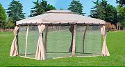 Giardini del Re TELO MOSCHIERA ADVENTURE 3X4 Set 4 Teli Moschiera per Gazebo 3x4 mt. Adventure zanzariera