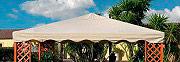 Giardini del Re TOP COPERTURA MAXIMA ECRU Copertura Gazebo 3x3 Top di ricambio poliestere 400gmq Ecrù