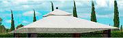 Giardini del Re Top Telo Copertura Gazebo 3x3 metri per Modello Eden col Bianco