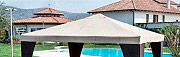 Giardini del Re Telo Gazebo 3x3 Copertura Top di ricambio 160 gmq Bianco