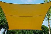 Giardini del Re Vela ombreggiante quadrata 3x3 Parasole Giardino 160 gmq Beige