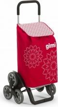 GIMI 154313 Carrello Spesa Floral Rosso lt 56 51x41 h 102