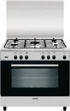 Glem Gas AN965GI Cucina a gas con forno a gas con Grill 5 Fuochi 90x60 cm Inox
