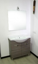 G.N.CUCINE ANTONELLA_PALIS Set Mobile sotto lavabo bagno PVC 82x35x84cm Specchio Legno Antonella