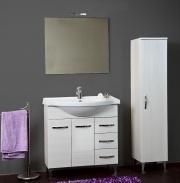 G.N.CUCINE CLAUDIA_BIANCO Set Mobile sotto lavabo bagno 82x35x84h cm Specchio Bianco Claudia