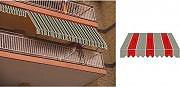 GIARDINI DEL RE Tenda da sole a caduta avvolgibile per balcone H 200x250 TESS.P3001